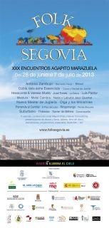 Folk Segovia celebrará su trigésima edición del 28 de junio al 7 de julio