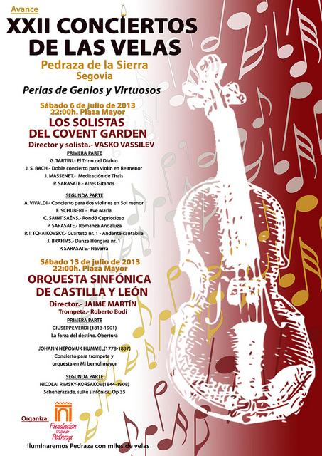 Concierto de las velas Pedraza 2013