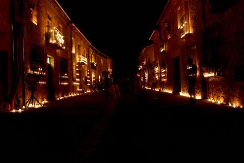 Lotería de Navidad en Pedraza ( Segovia )