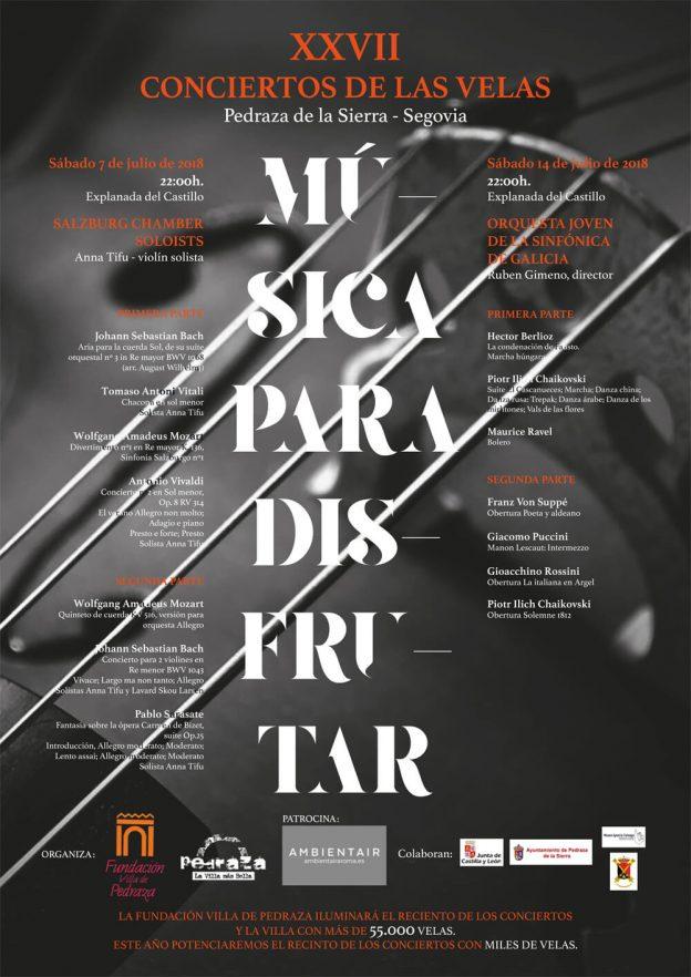 XXVII edición conciertos Velas de Pedraza 2018